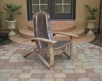 barrel stave adirondack chair plans georgia company wine chairs etsy medium woodworking 5852