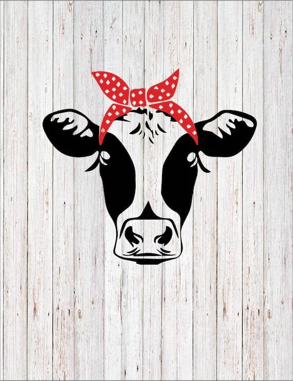 Cricut Cow Svg : cricut, Bandana, Files