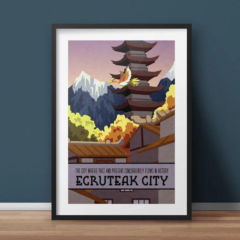 pokemon travel poster ecruteak