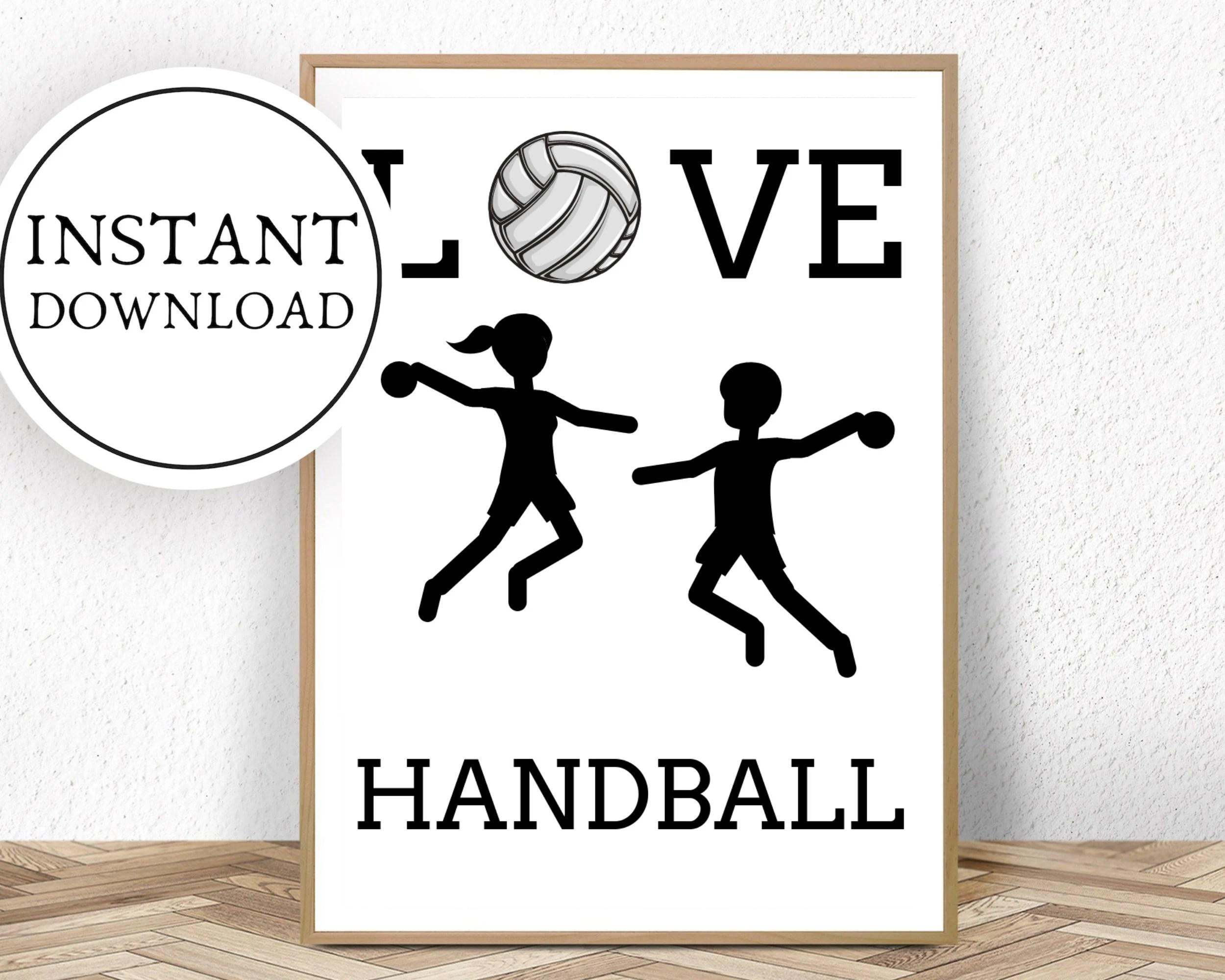 aquarell handball etsy