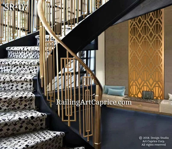 Modern Interior Railings Staircase Decorative Panel Inserts Etsy   Modern Metal Railings Interior   Modern Style   Railing Design   Fancy   Modern Aluminium   Decorative