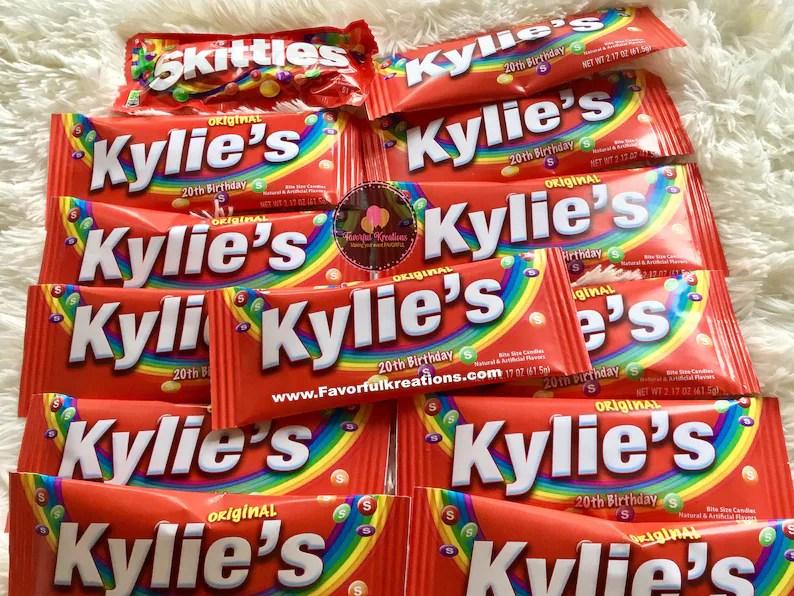 Personalized Name Skittles-Custom Skittles-Birthday | Etsy