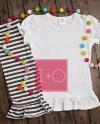 Flat Lay Mockup Girls Youth Ruffle Tshirt Arb Blanks Boutique Etsy