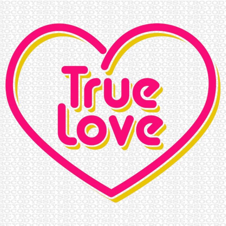 Download Valentines Day SVG File True Love Retro 80's Style SVG   Etsy