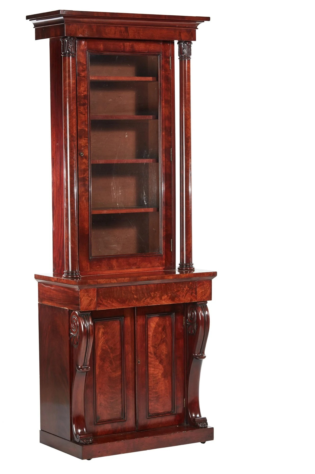 Quality William Iv Mahogany Bookcase