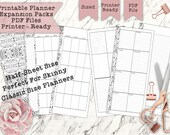 Printable Skinny Classic Half Sheet Happy Planner - Print Double Sided - Perfectly Sized and PDF Printer Ready for your Planner!