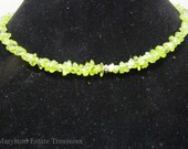Sterling and Peridot Memory Wire Necklace