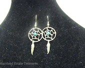 Sterling Silver Southwestern Dreamcatcher Earrings