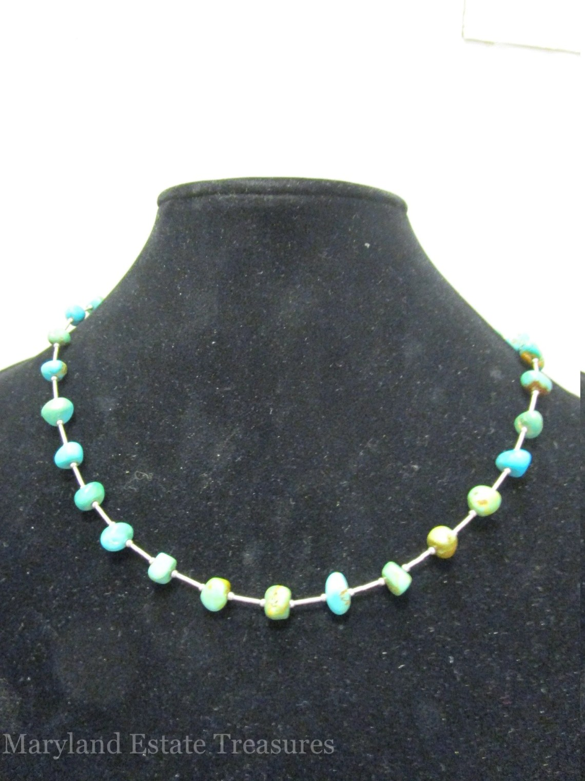 Liquid Sterling and Turquoise Necklace