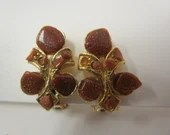 Vintage Goldstone Earrings