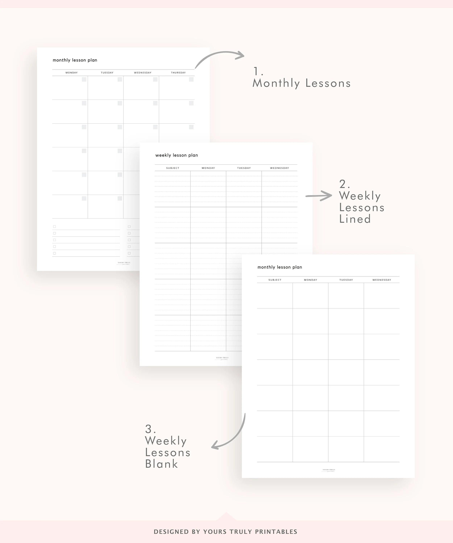 Printable Weekly Lesson Plan Template PDF Teacher Weekly