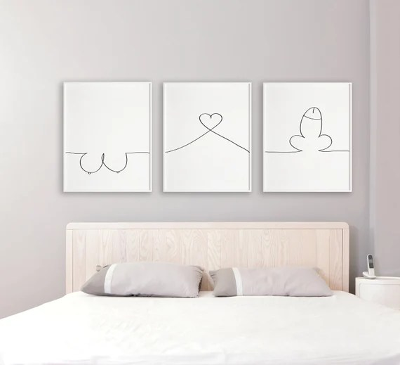 Mature Bedroom Prints Bedroom Wall Art Bedroom Decor Adult Etsy