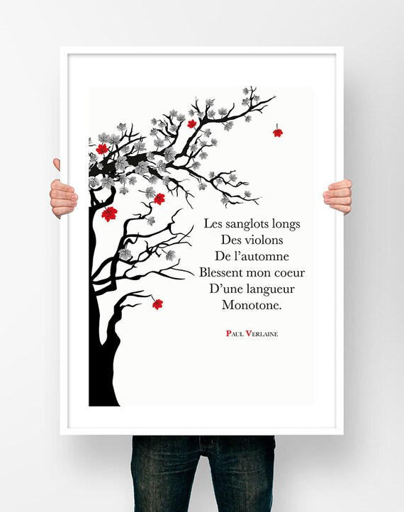 Chanson D Automne Victor Hugo : chanson, automne, victor, Print, Illustration, Verlaine, Chanson, D'automne