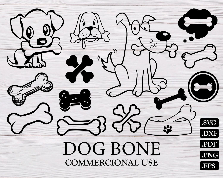 Dog Bone Svg Dog Svg Bone Svg Dog Clipart Dog Paw Svg Dog