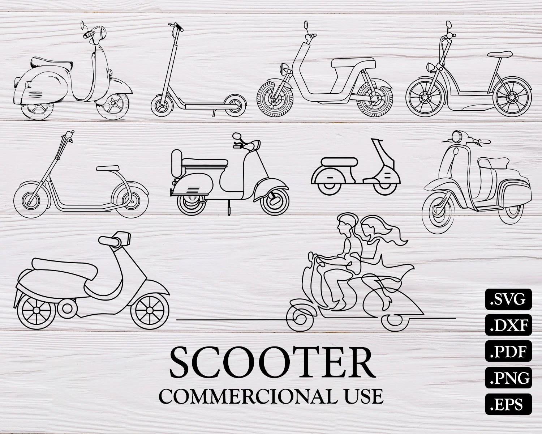 SCOOTER SVG scooter scooter cut file scooter clipart stunt