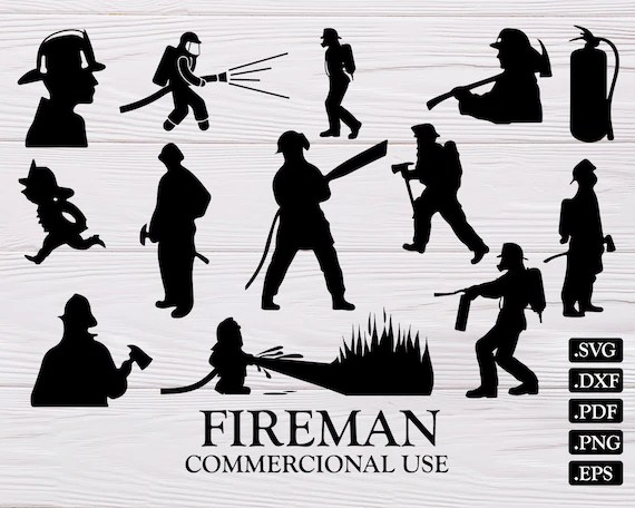 fireman silhouette clip art # 31
