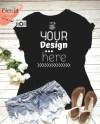 Black Tshirt Mockup Black Tee Mockup With Shorts And Shoes Etsy