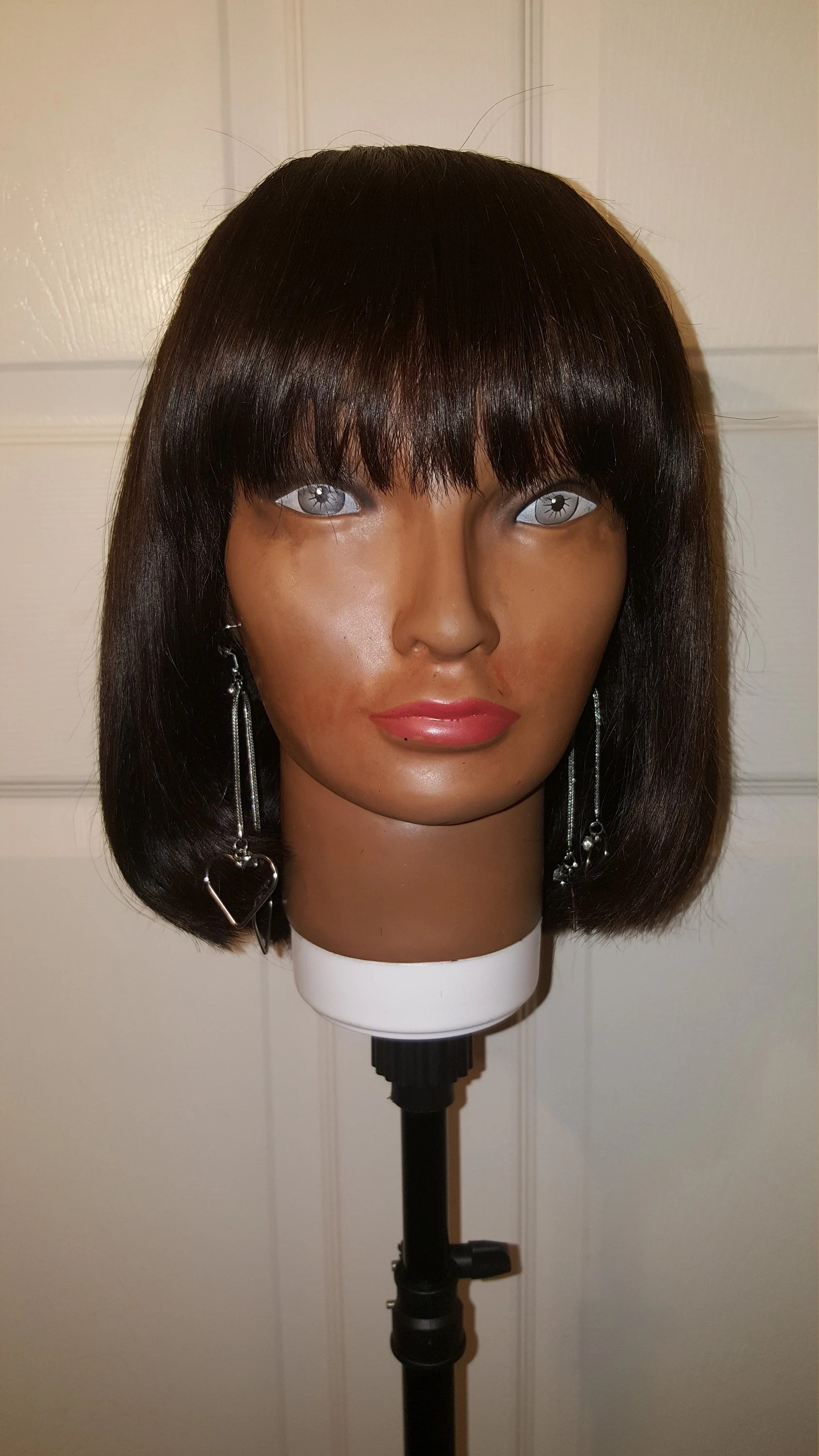Bob With Lace Closure : closure, Hand-made, Human, CLOSURE, Bangs