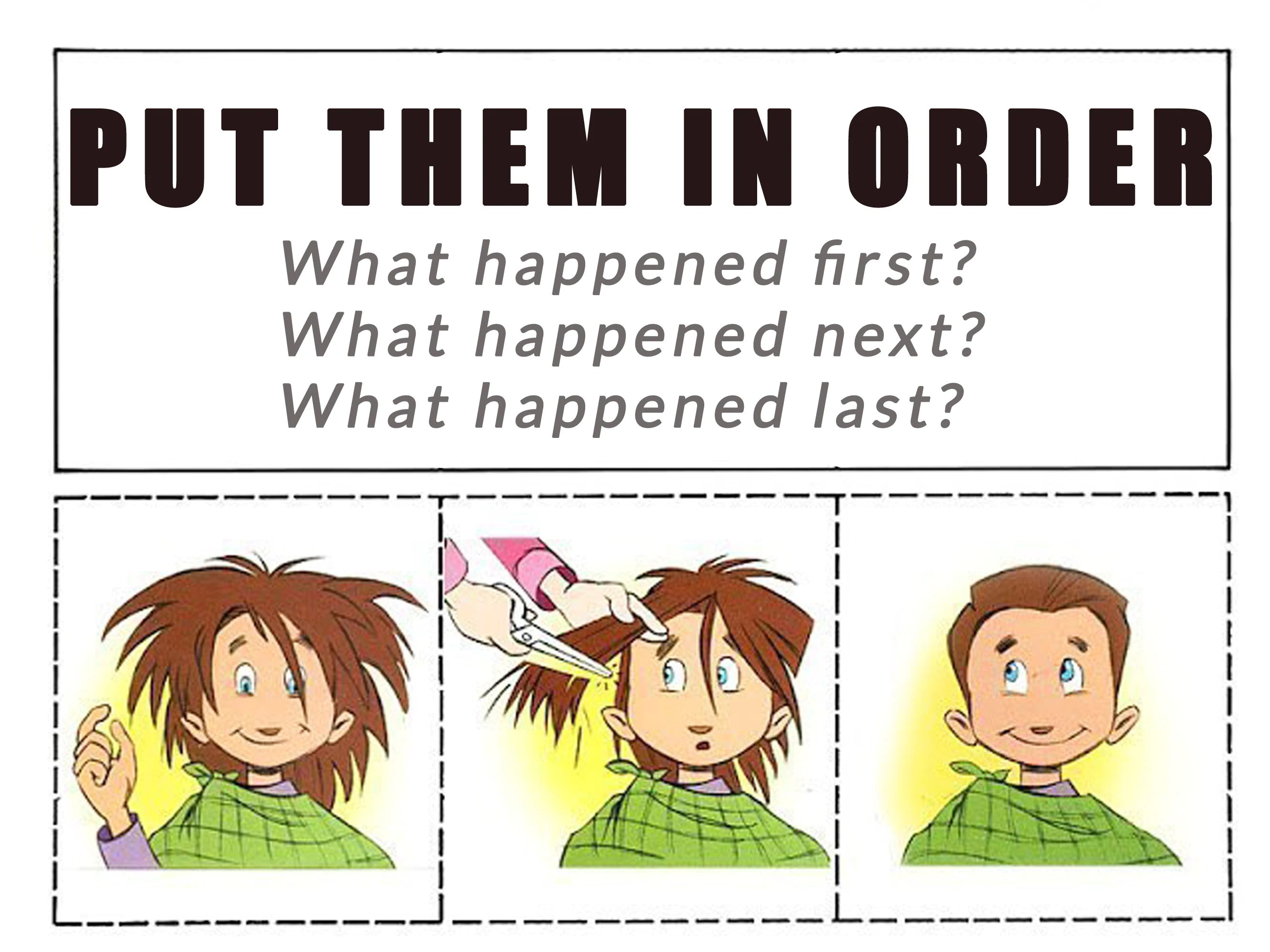 Sequencing Worksheets What Happened Next Learning
