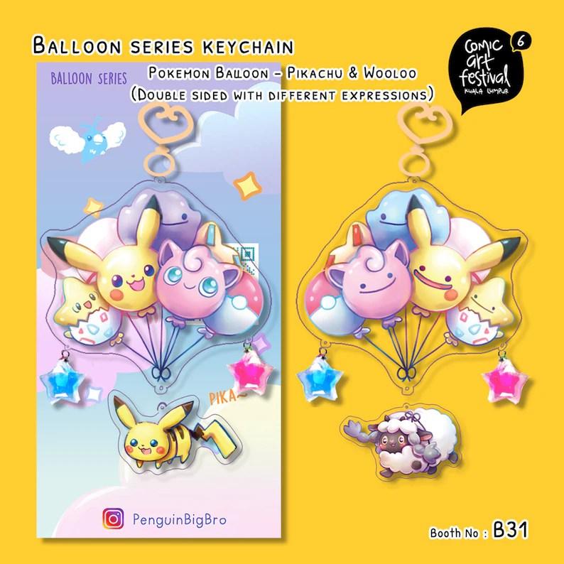 pokemon balloon series acrylic