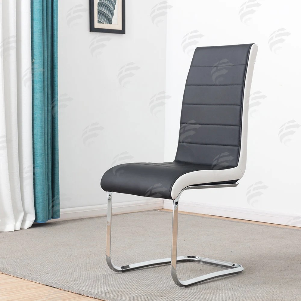 leather chrome chair chaise lounge beach etsy black faux dining room modern high back legs office chairs