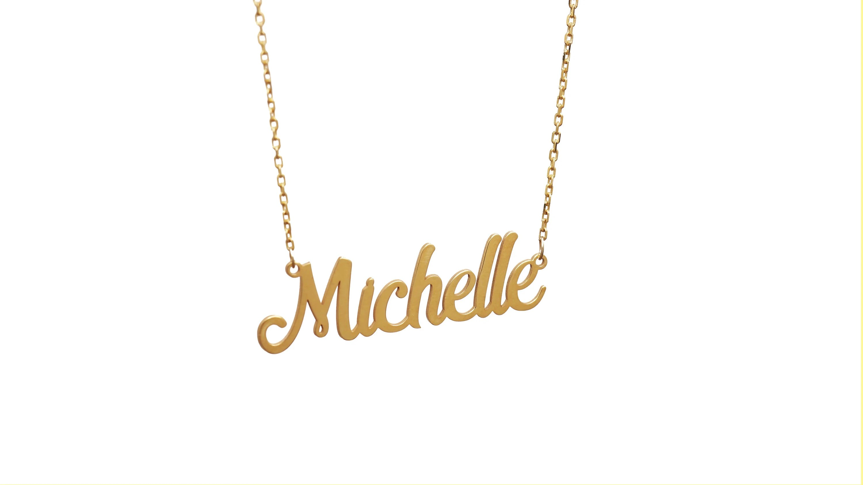 14K Solid Gold Personalized Name Necklace  Custom Name image 2