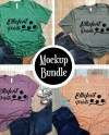 Mockup Bundle Bella Canvas 3001 Unisex T Shirt Heather Etsy