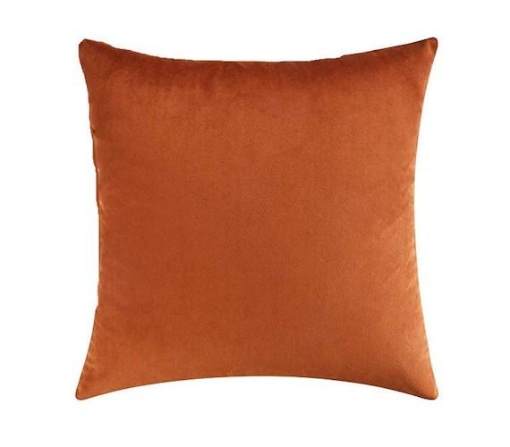 burnt orange velvet throw pillow cover burnt orange throw pillows burnt orange pillow cover burnt orange throw pillow 18x18