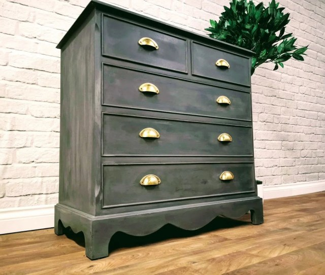 Sold Beautiful Small Solid Mahogany Chest Of Drawers Clothes Storage