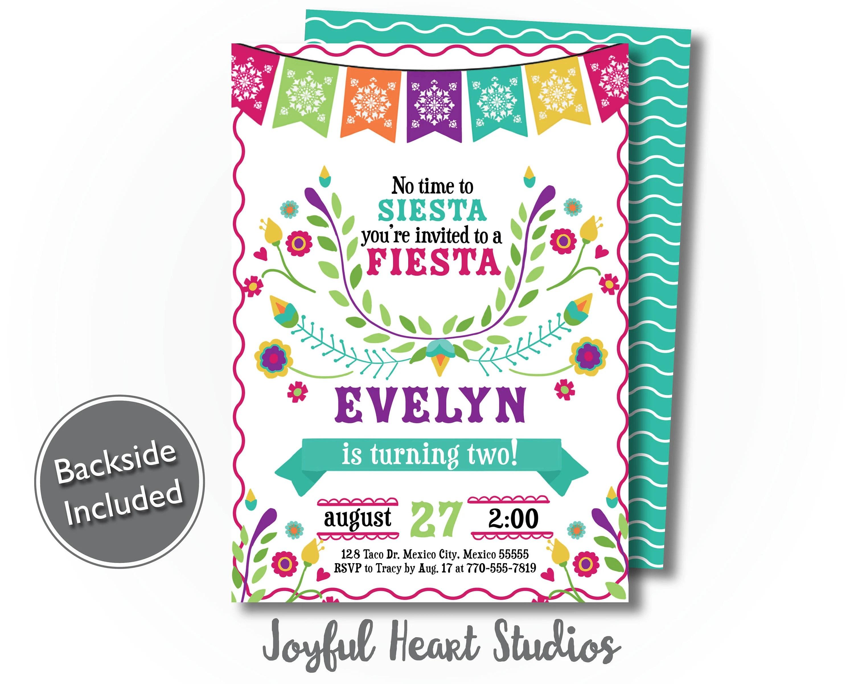 fiesta birthday invitation mexico