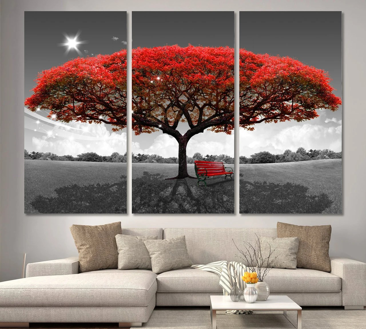 large tree poster etsy