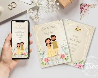 wedding invitation card cute clip art
