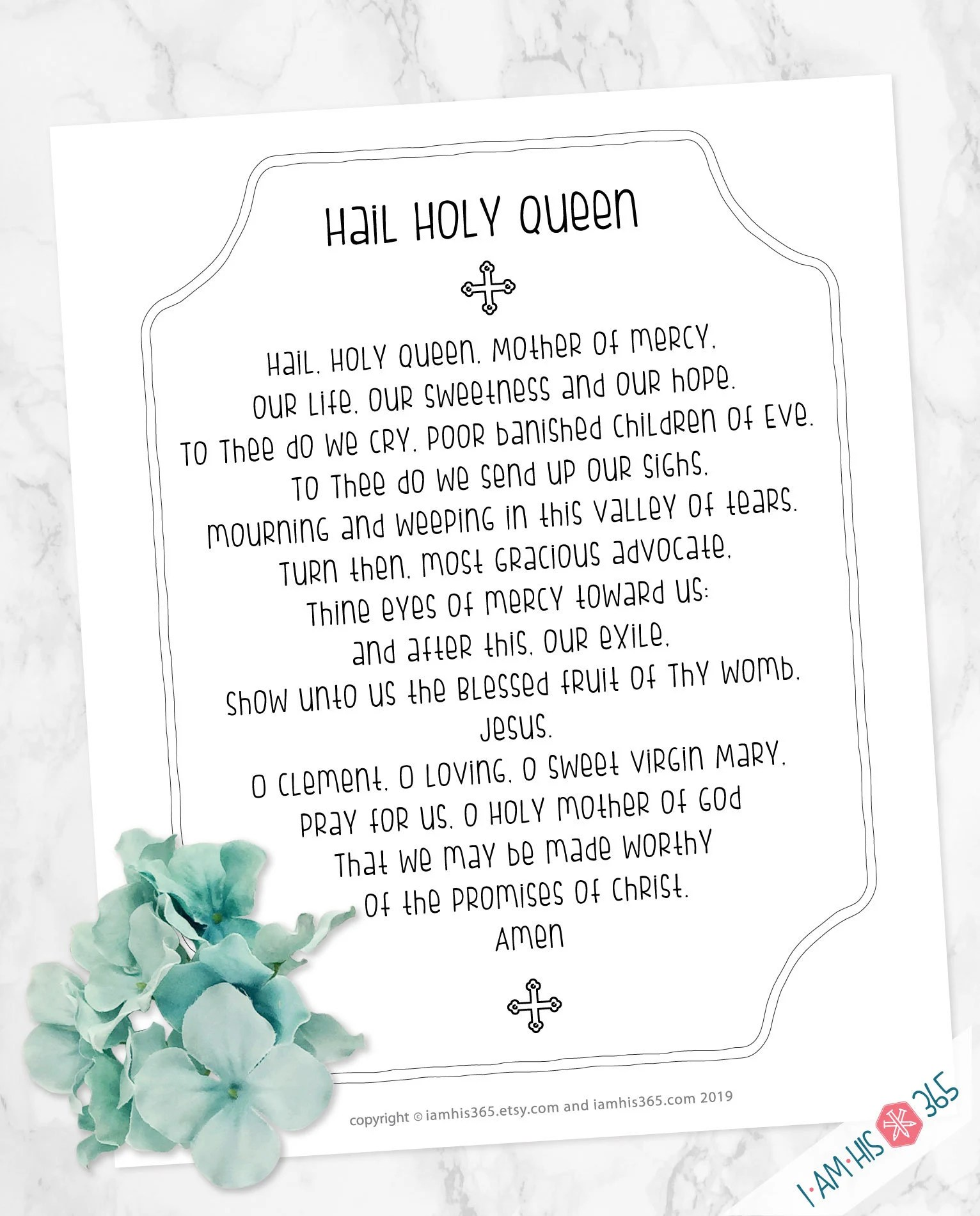 Catholic Prayer Print Set Of 12