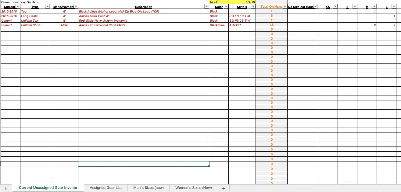 This warehouse inventory template includes the ability to print a pick list, be flagged when it's reordering time, retrieve information on specific bins, and keep track of inventory value. Apparel Inventory Tracking Spreadsheet Etsy