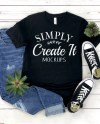 Bella Canvas Mockup Bella 3001 Black Bella 3413 Black Black Etsy