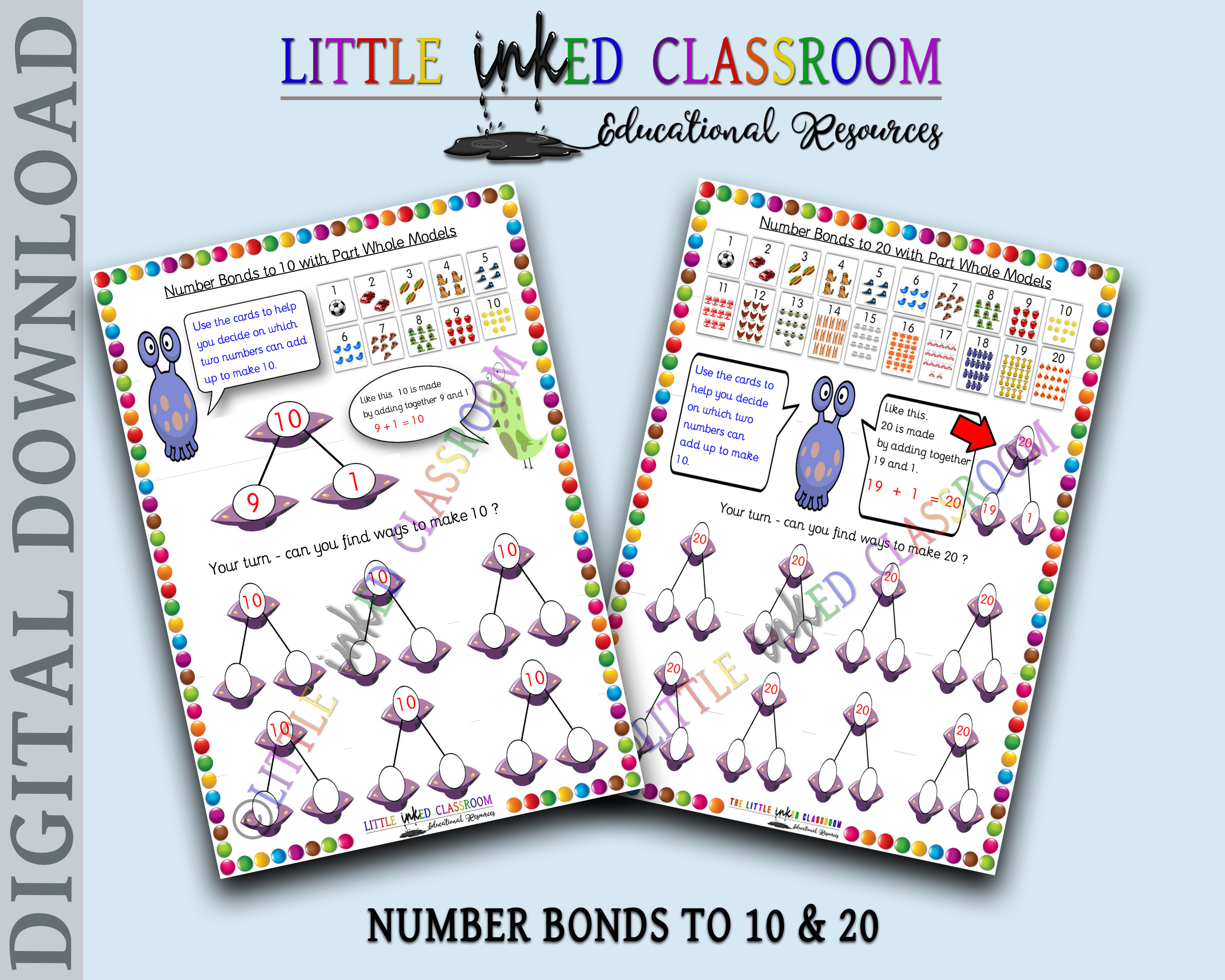 Number Bonds To 10 Or 20 Printable Educational Resource