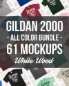 Gildan Mockup Bundle All Colors On White Wood Unisex Or Mens Etsy