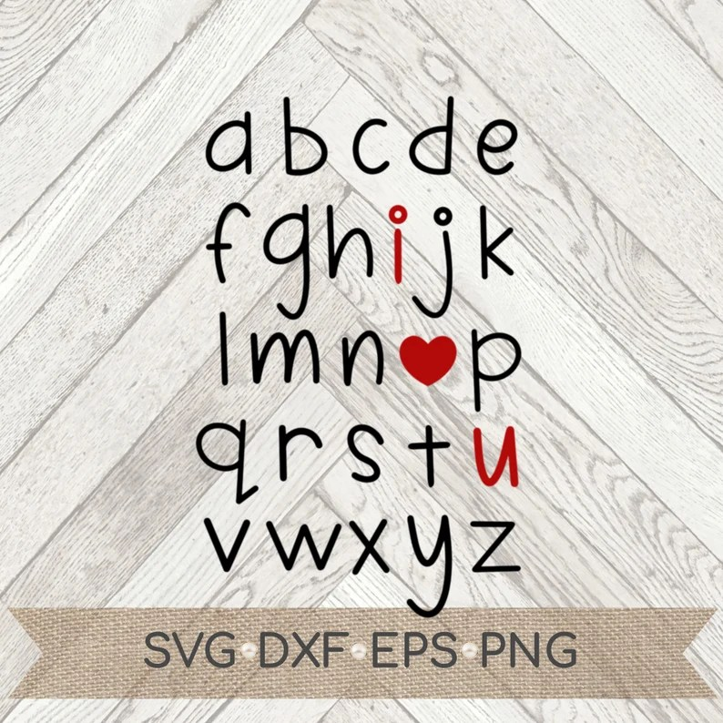 Download I love you alphabet svg I love you dxf eps png Valentine ...
