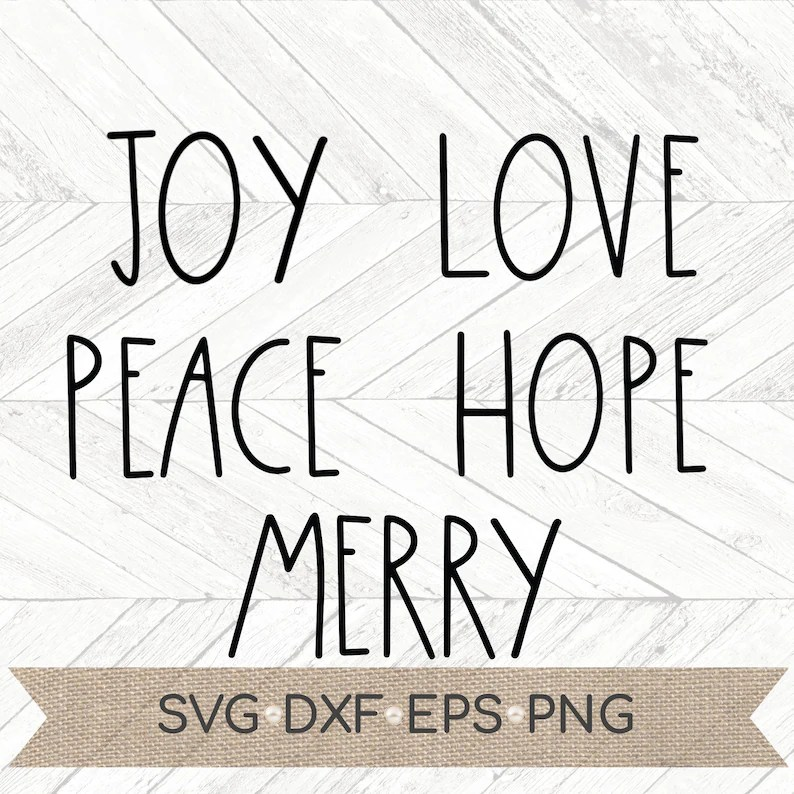 Download Joy Hope Peace Love Merry svg Christmas words svg ...
