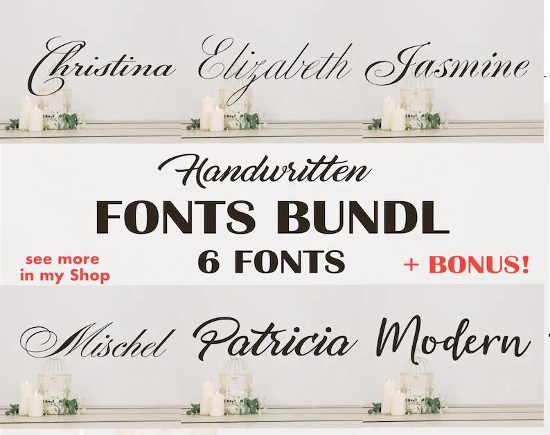 Download Font Bundle Cricut Fonts Script Font svg Wedding Font   Etsy