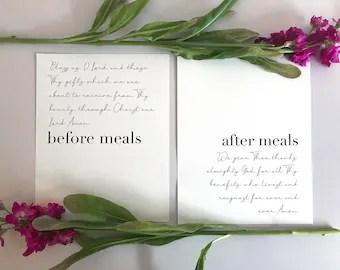 meal prayer etsy