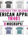 American Apparel Tr401 Mockup Bundle American Apparel Bundle Etsy