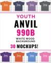 Anvil 990b Mockup Bundle Anvil Bundle Anvil Mockup Youth Etsy