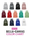 Bella Canvas 6008 Color Chart Mockup Bella Canvas Mockup Etsy