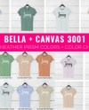 Bella Canvas 3001 Mockup Bundle Bella Canvas Bundle Bella Etsy