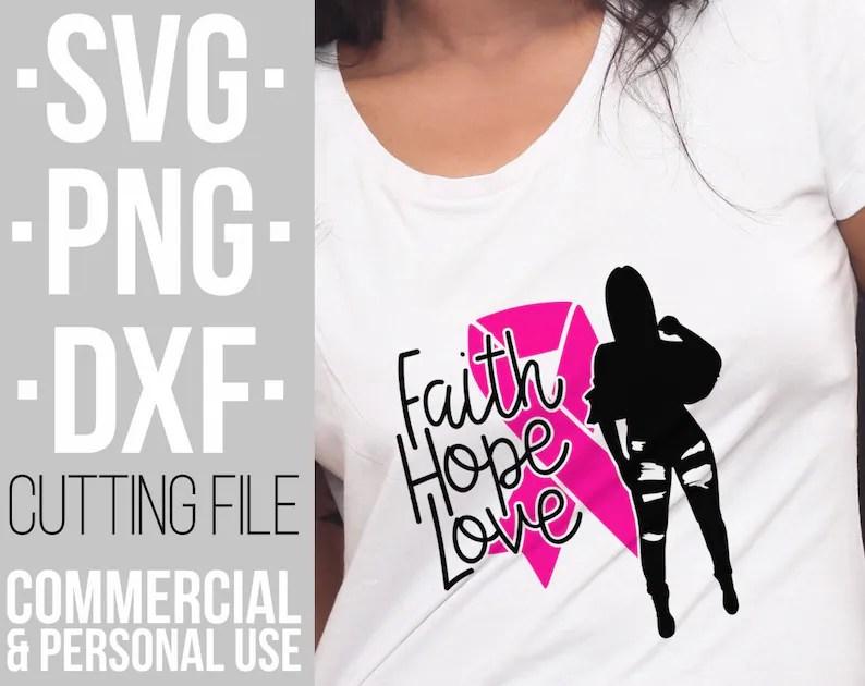 Download Faith Hope Love svg Breast cancer Pink ribbon svg ...