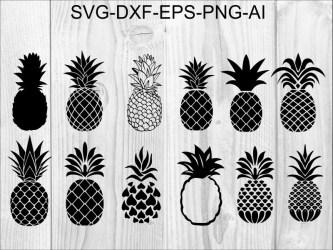 Pineapple cricut Etsy