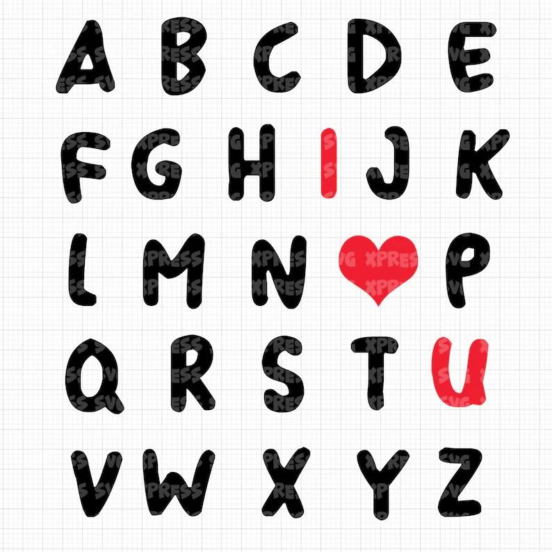 Download ABC Alphabet I Love You Valentine's Day Tshirt SVG Vinyl ...