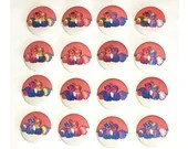 Vulpix LGBT Pride Flag Pin Buttons / Pokemon / Alolan and Kantonian forms