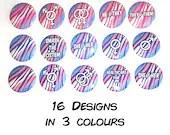 Trans Pride Flag Pin Button / Tiger Stripes / Pronouns / LGBT Pride